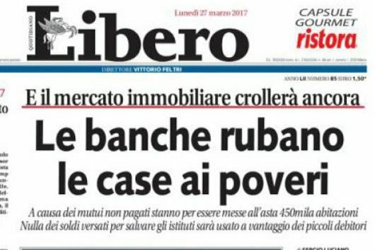 UsuraBancaria - Le banche rubano ai poveri - Photo by Giornale Libero